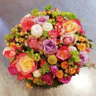 composition ronde de roses