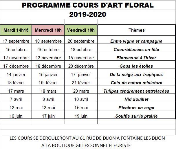 Initiation à l'art floral-cours floral dijon-gilles sonnet