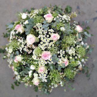 coussin rond fleurs