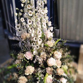 coussin conique fleurs
