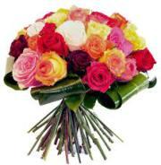 Bouquet Roses Equateur varié