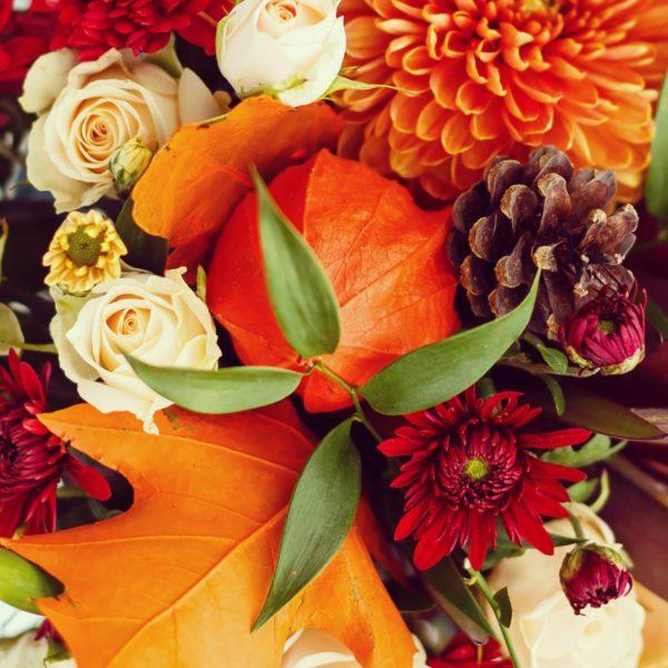 Le bouquet orangé de votre artisan fleuriste