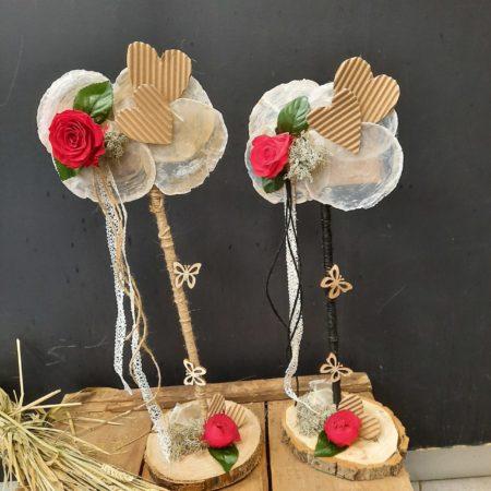 votre artisan fleuriste vous propose le bouquet : Création unique en rose stabilisée