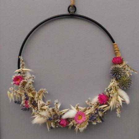 votre artisan fleuriste vous propose le bouquet : Couronne Bohème