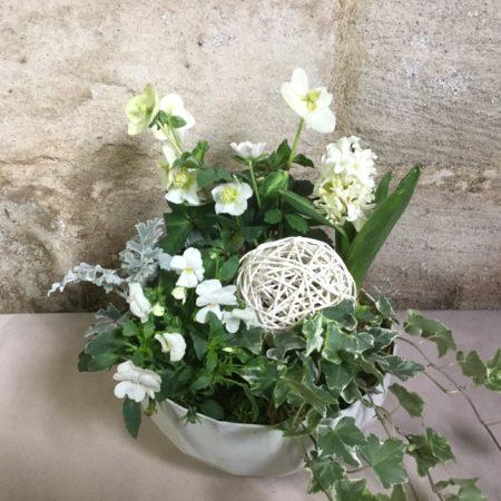 votre artisan fleuriste vous propose le bouquet : Eternité
