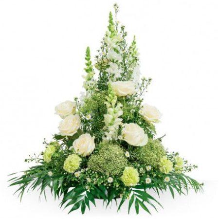 votre artisan fleuriste vous propose le bouquet : Deuil: Devant De Tombe