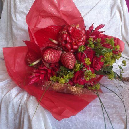 votre artisan fleuriste vous propose le bouquet : Baisers Sucrés