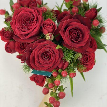 votre artisan fleuriste vous propose le bouquet : Tu Es Mon Coeur