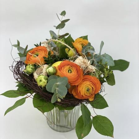 votre artisan fleuriste vous propose le bouquet : LE BOUQUET NID