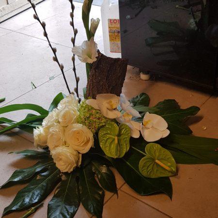 votre artisan fleuriste vous propose le bouquet : Fleur décès