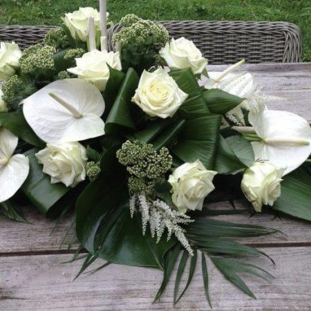 votre artisan fleuriste vous propose le bouquet : Composition funéraire