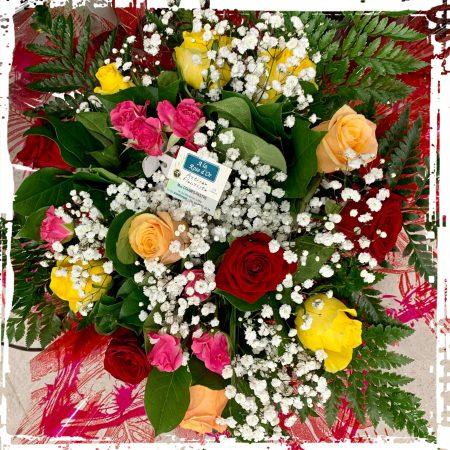 votre artisan fleuriste vous propose le bouquet : Bouquet rond de Roses