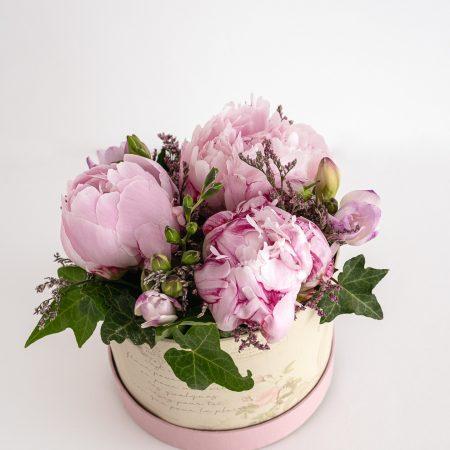 votre artisan fleuriste vous propose le bouquet : Coffret de pivoines