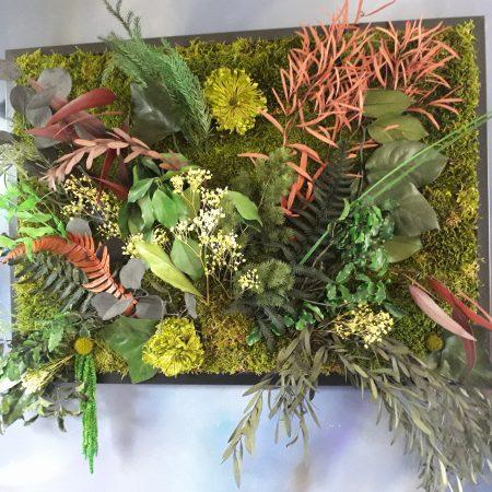votre artisan fleuriste vous propose le bouquet : composition tableau grande dimension / a suspendre