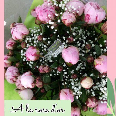 votre artisan fleuriste vous propose le bouquet : Pivoine