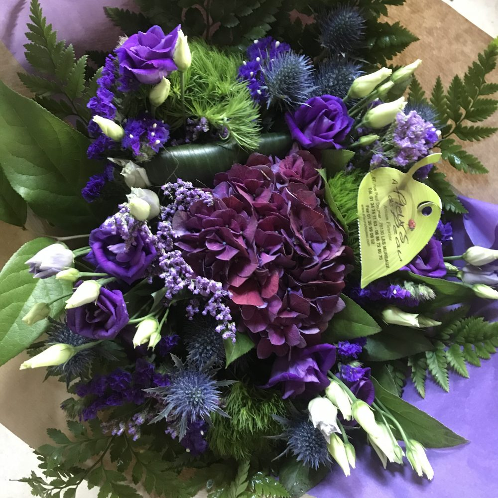 Bouquet bleu champêtre