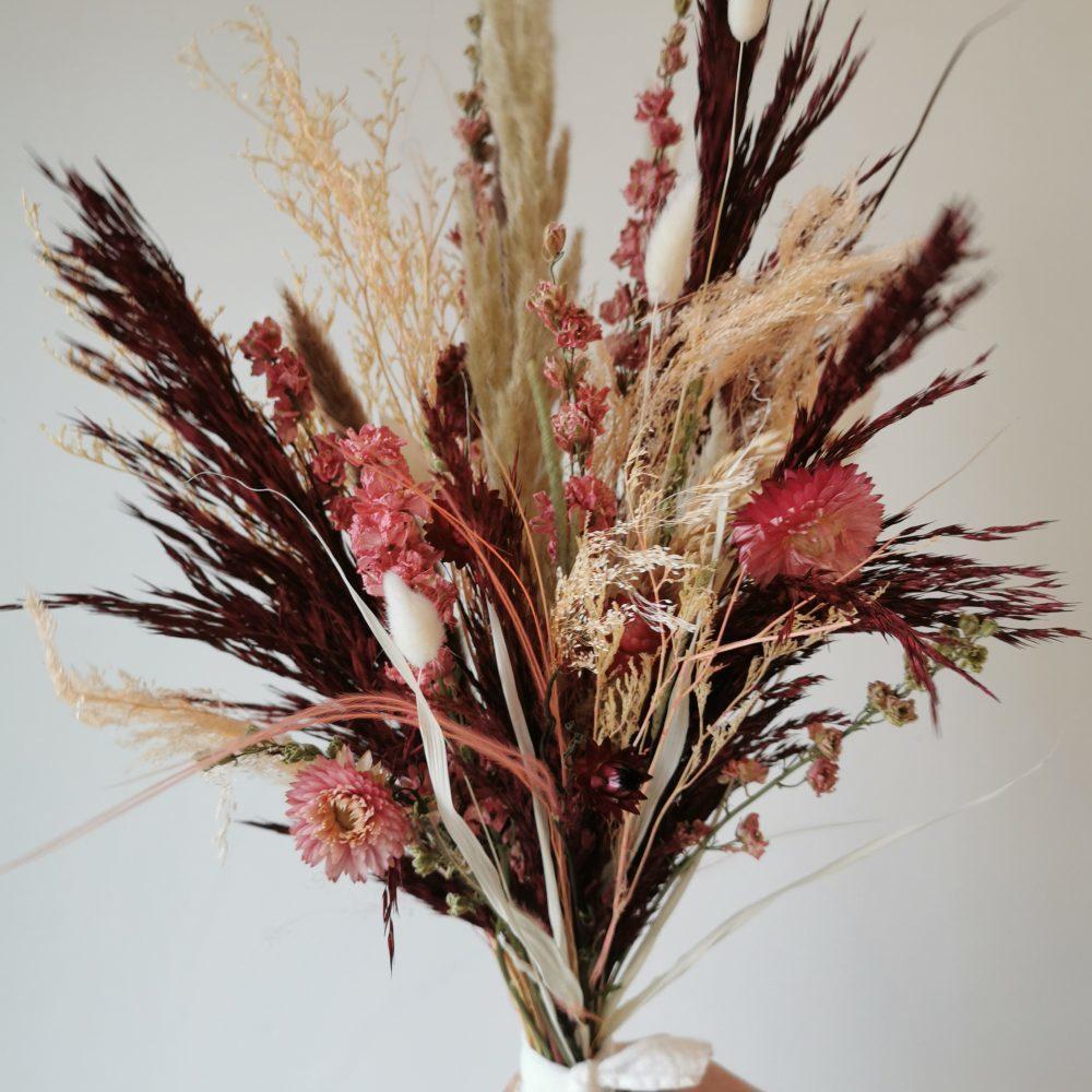 Bouquet de fleurs séchées et stabilisées