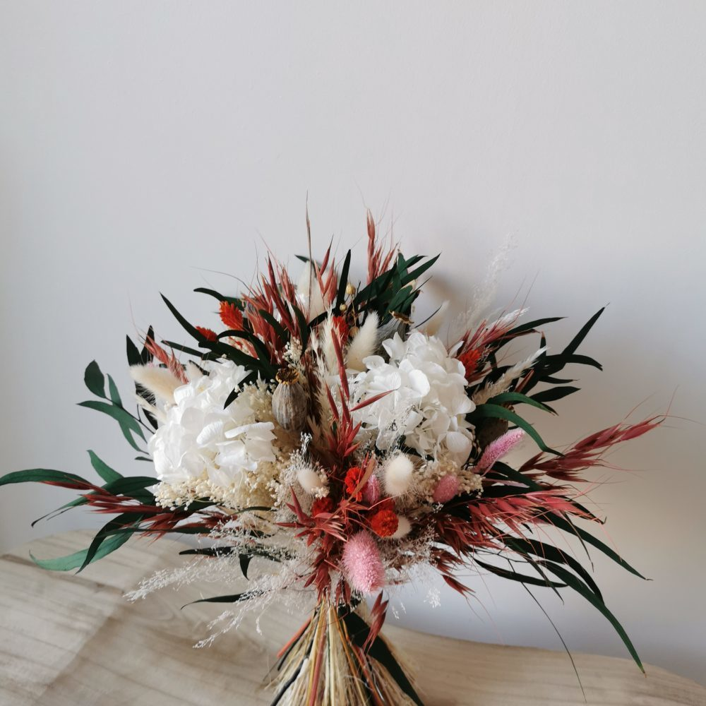 Bouquet coloré - fleurs séchées et stabilisées