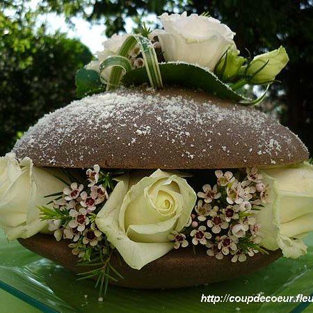 votre artisan fleuriste vous propose le bouquet : Macaron