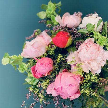 votre artisan fleuriste vous propose le bouquet : Bouquet du fleuriste mix pivoine