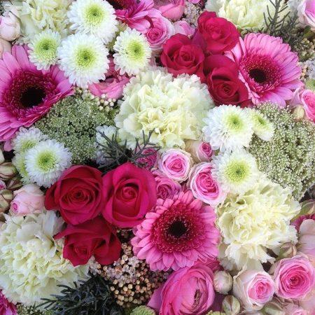 votre artisan fleuriste vous propose le bouquet : Bouquet fuchsia