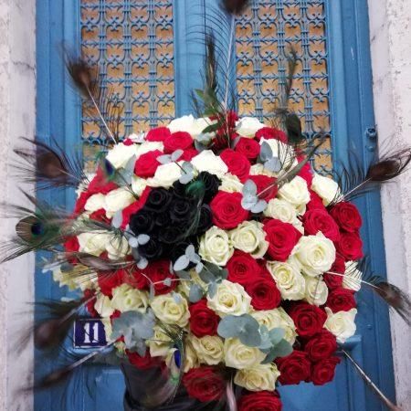 """votre artisan fleuriste vous propose le bouquet : Bouquet de rose """"infini"""""""