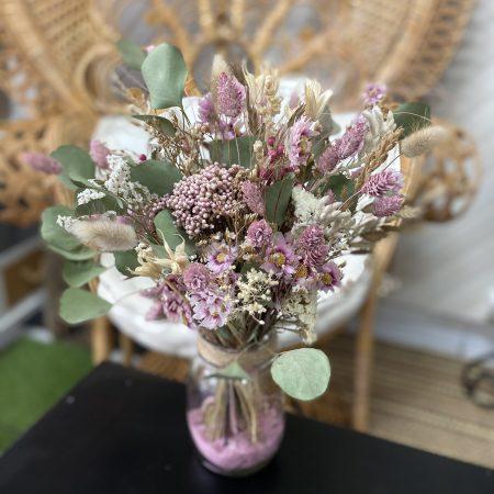 votre artisan fleuriste vous propose le bouquet : Bouquet de fleurs séchées - Fête des mères