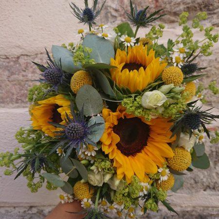"""votre artisan fleuriste vous propose le bouquet : Bouquet de tournesol """"ensoleillé"""""""