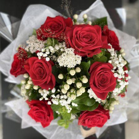 votre artisan fleuriste vous propose le bouquet : Bouquet Romance