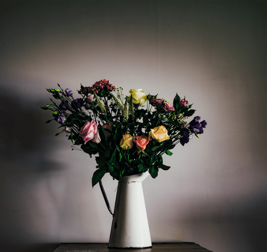 Bouquet Chat Pot De Fleurs