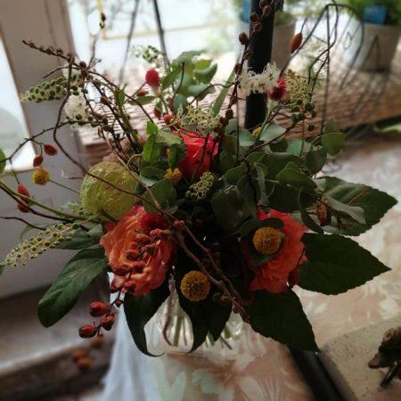 votre artisan fleuriste vous propose le bouquet : Bouquet Nature Avec Des Branchages