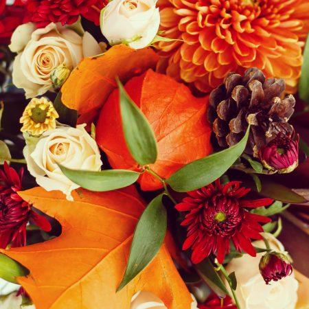 votre artisan fleuriste vous propose le bouquet : Bouquet orangé