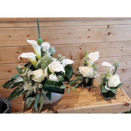 votre artisan fleuriste vous propose le bouquet : Composition ronde