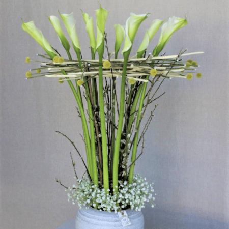 votre artisan fleuriste vous propose le bouquet : Création Prestige