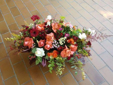 votre artisan fleuriste vous propose le bouquet : Coussin Floral