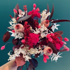 votre artisan fleuriste vous propose le bouquet : Bouquet sec taille moyenne