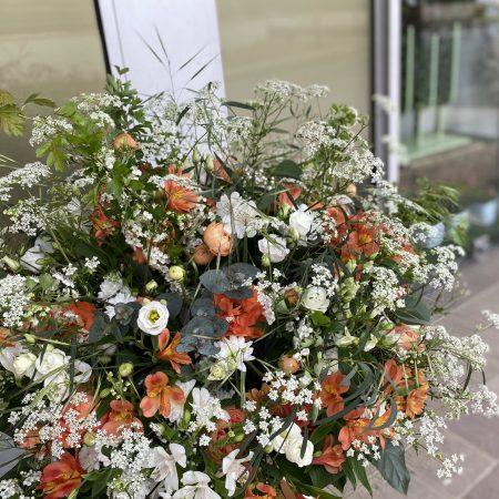 votre artisan fleuriste vous propose le bouquet : Panier Champêtre