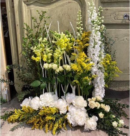 votre artisan fleuriste vous propose le bouquet : Jardin Deuil
