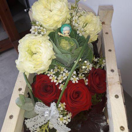 votre artisan fleuriste vous propose le bouquet : Pour Les Petits Pieds( sur commande)