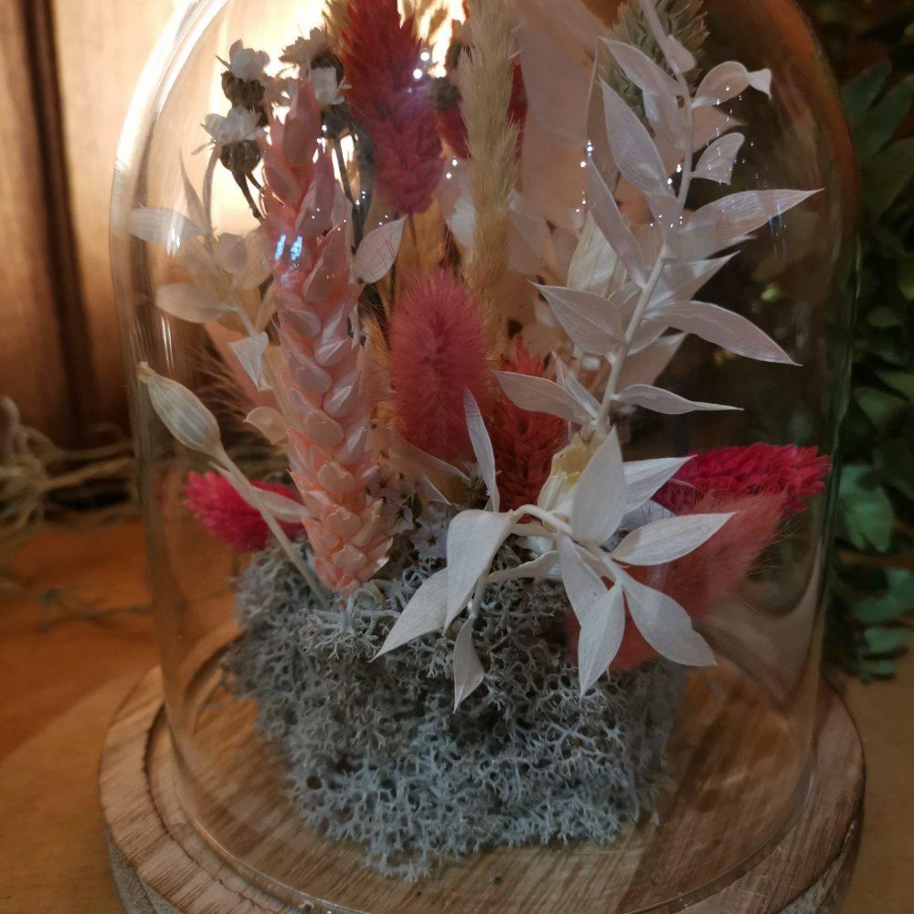 Cloche De Fleurs Séchées 15 Cm