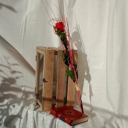 votre artisan fleuriste vous propose le bouquet : Rose Éternelle sur tige