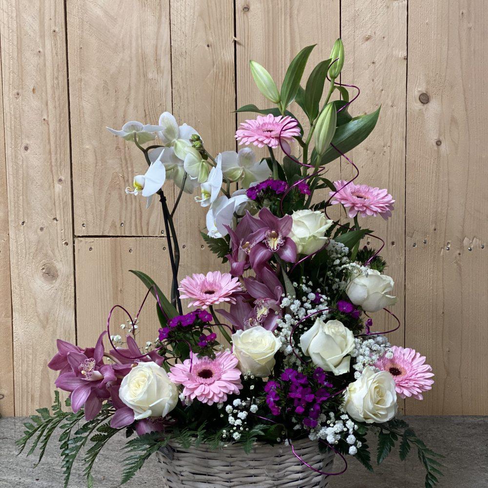 Composition Florale Fleurs + Orchidée