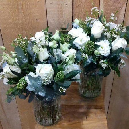 votre artisan fleuriste vous propose le bouquet : Bouquet Vert Et Blanc