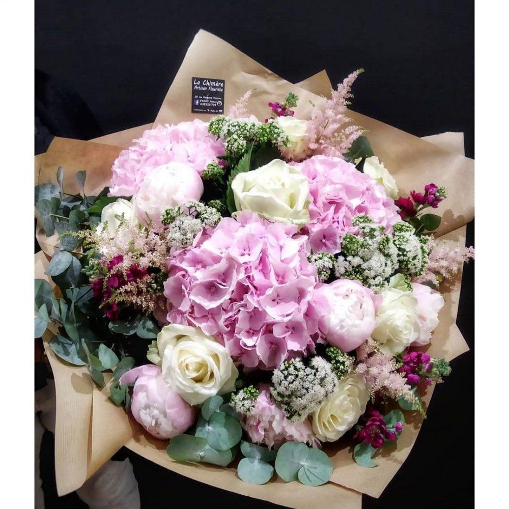 Bouquet Dans Les Tons De Rose