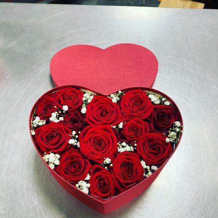 votre artisan fleuriste vous propose le bouquet : Roses En Boîte