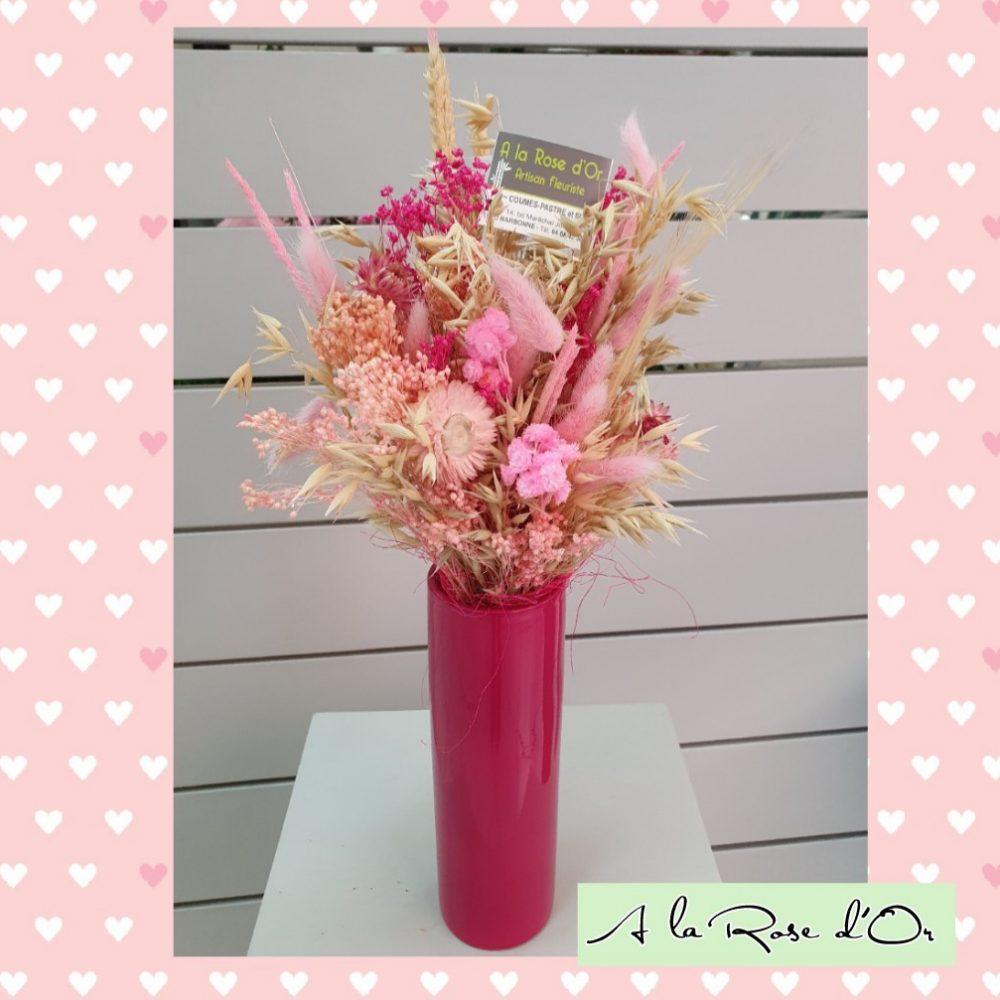 Bouquet De Fleurs Séchées et son vase
