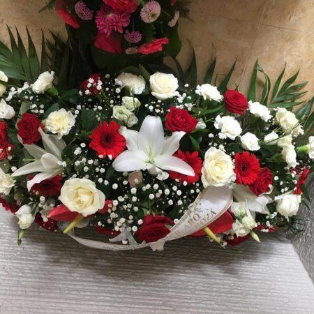 votre artisan fleuriste vous propose le bouquet : Gerbe Deuil