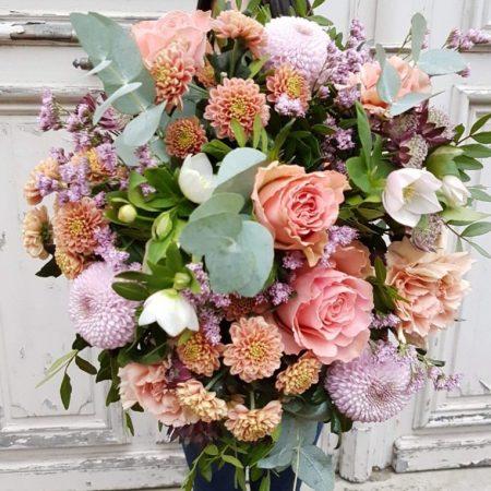 votre artisan fleuriste vous propose le bouquet : Bouquet Saumon