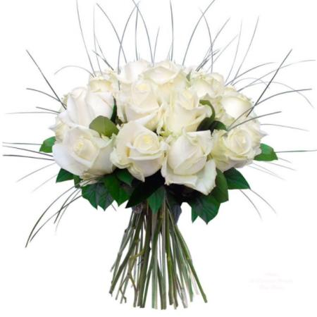 votre artisan fleuriste vous propose le bouquet : L'Étoile Blanche