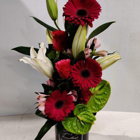 votre artisan fleuriste vous propose le bouquet : Composition Florale